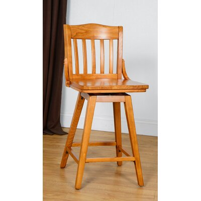 Orlando Wood 24 Swivel Bar Stool Color: Cherry