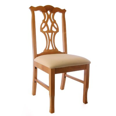 Jaylon Solid Wood Dining Chair Color: Honey Oak