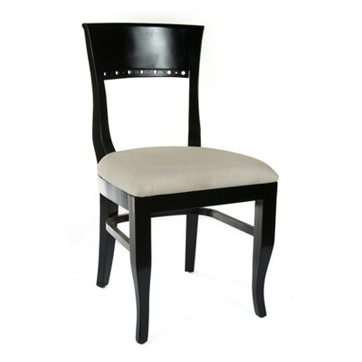 Tymon Solid Wood Dining Chair (Set of 2) Color: Black