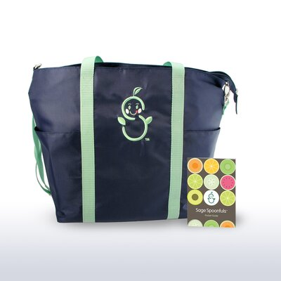 Sage Mommy Tote with Pocket Guide