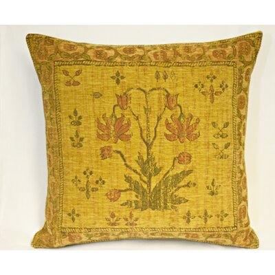 Country Nouveau Throw Pillow Color: Yellow