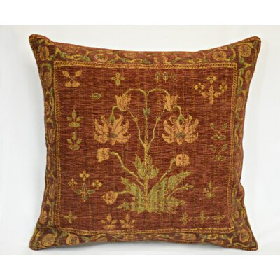 Country Nouveau Throw Pillow Color: Red