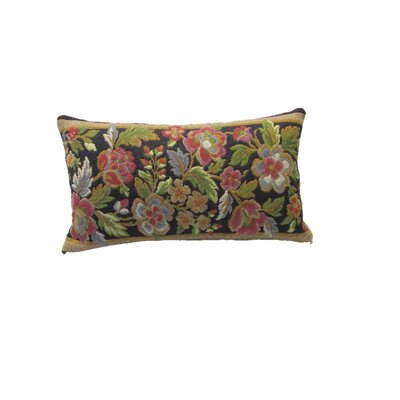 Beacham Floral Wool Lumbar Pillow Color: Blue