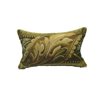 Beacham Leaf 100% Cotton Lumbar Pillow Color: Green/Teal Blue