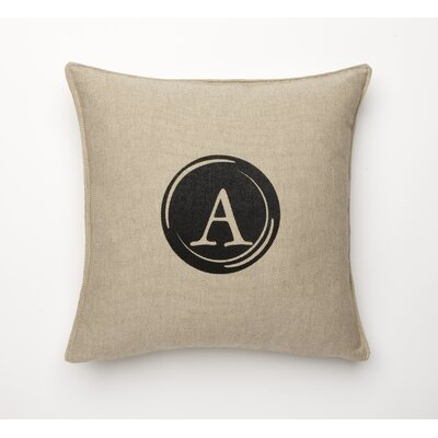 Linen Retro Typewriter Font Linen Throw Pillow Type: A
