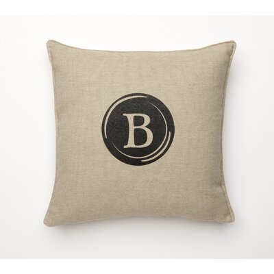 Linen Retro Typewriter Font Linen Throw Pillow Type: B