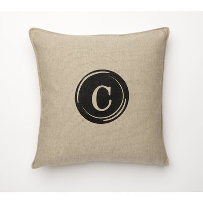 Linen Retro Typewriter Font Linen Throw Pillow Type: C