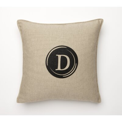 Linen Retro Typewriter Font Linen Throw Pillow Type: D