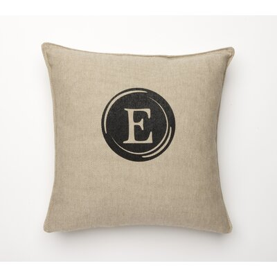 Linen Retro Typewriter Font Linen Throw Pillow Type: E