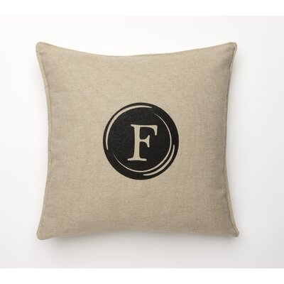 Linen Retro Typewriter Font Linen Throw Pillow Type: F