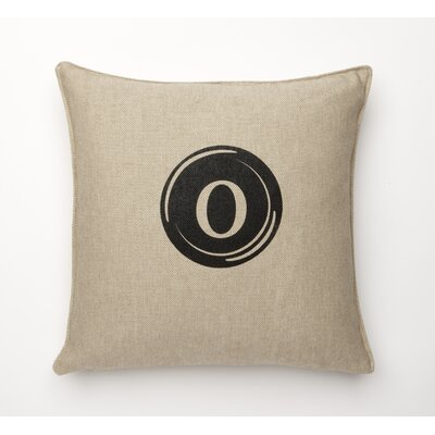 Linen Retro Typewriter Font Linen Throw Pillow Type: O