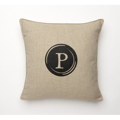Linen Retro Typewriter Font Linen Throw Pillow Type: P