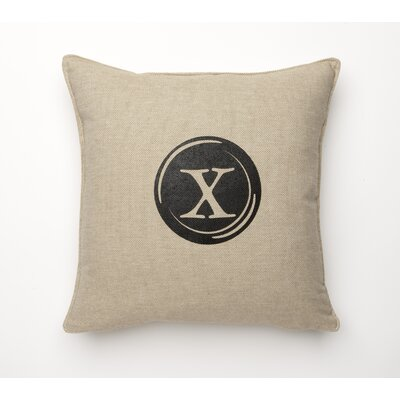 Linen Retro Typewriter Font Linen Throw Pillow Type: X