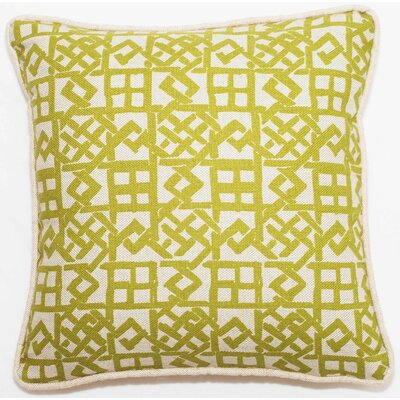 Modern Lattice Throw Pillow Size: 18 x 18, Color: Green