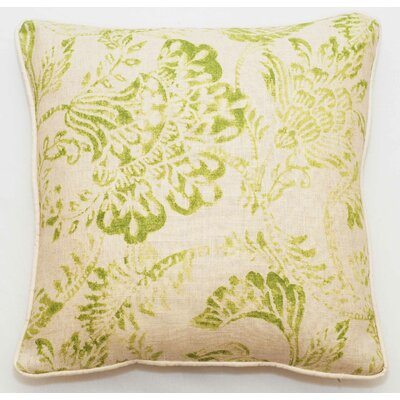 Bali Throw Pillow Color: Green Bright, Size: 22 x 22