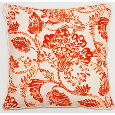 Bali Throw Pillow Color: Orange Bright, Size: 22 x 22