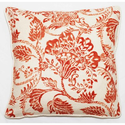 Bali Throw Pillow Color: Red Antique, Size: 18 x 18