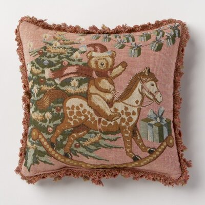 Holiday Whimsy Bear Throw Pillow