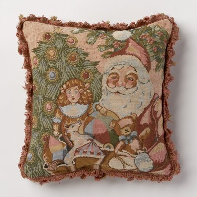 Holiday Whimsy Santa Throw Pillow