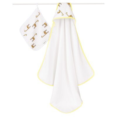 Jungle Jam Giraffe Hooded 2 Piece Towel Set