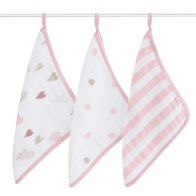 Heart Breaker 3 Piece Washcloth Set