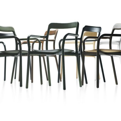 Low Price Mattiazzi from Herman Miller Branca Arm Chair FInish: Green Anilin Beech, Upholstery: Nord Wool gray