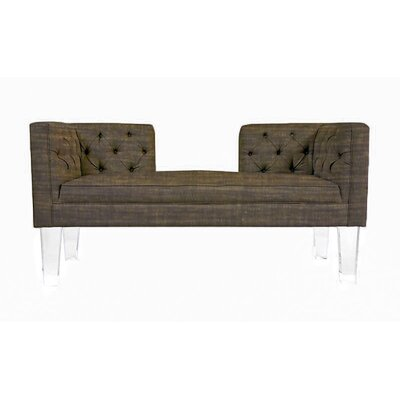 Cote DAzure Provence Chesterfield Loveseat Upholstery: Brown