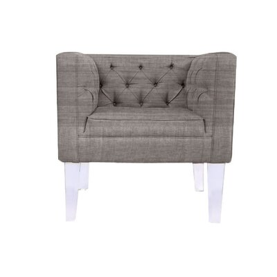 Cote DAzure Provence Barrel Chair Upholstery: Silver
