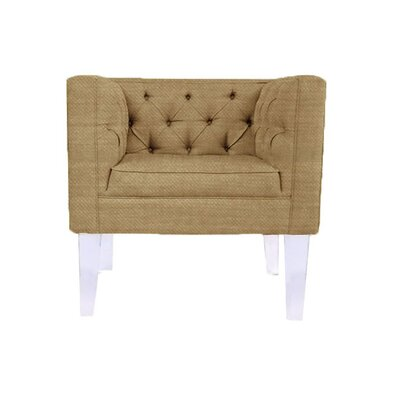 Cote DAzure Provence Barrel Chair Upholstery: Gold