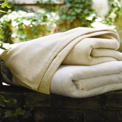 Signature All Seasons Egyptian Quality Cotton Blanket Size: Throw, Color: Natural