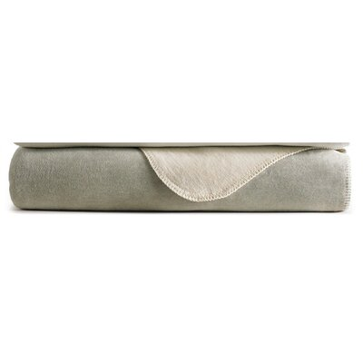 Alta Reversible Blanket Size: King, Color: Pearl / Flint