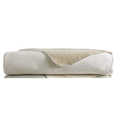 Alta Reversible Blanket Size: King, Color: White / Linen