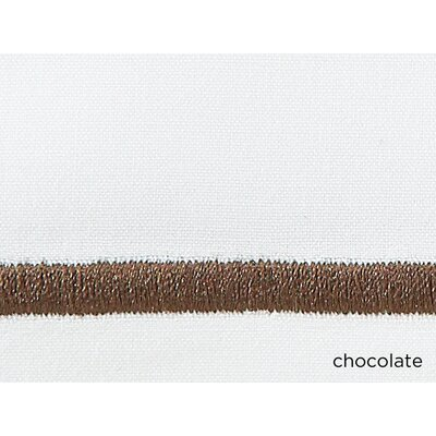 Concerto Pillow Case Color: Chocolate, Size: King