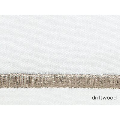 Concerto Pillow Case Color: Driftwood, Size: Standard