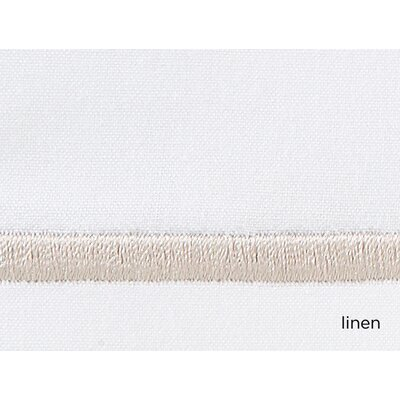 Boutique 200 Thread Count 100% Cotton Flat Sheet Size: Queen, Color: Linen