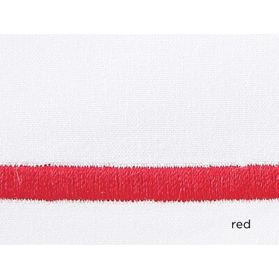 Concerto Pillow Case Color: Red, Size: King