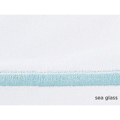 Concerto Pillow Case Color: Seaglass, Size: Standard