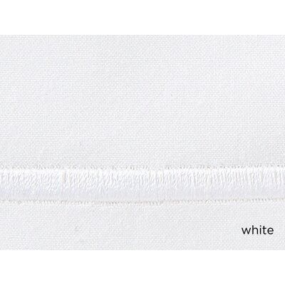 Concerto Pillow Case Color: White, Size: King