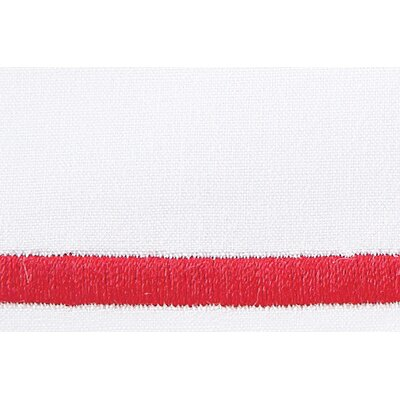 Melody Pillow Case Color: Red