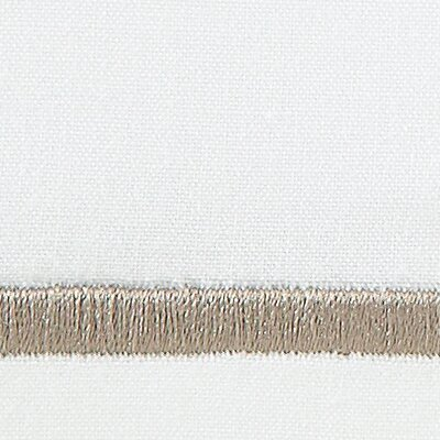 Concerto 420 Thread Count Flat Sheet Size: Queen, Color: Driftwood