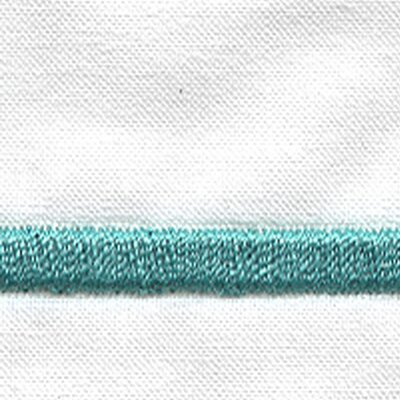 Melody 420 Thread Count Egyptian-Quality Cotton Flat Sheet Color: Aqua, Size: Twin