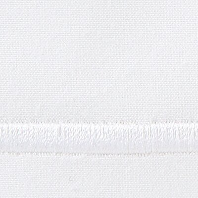 Melody 420 Thread Count Egyptian-Quality Cotton Flat Sheet Color: White, Size: Queen