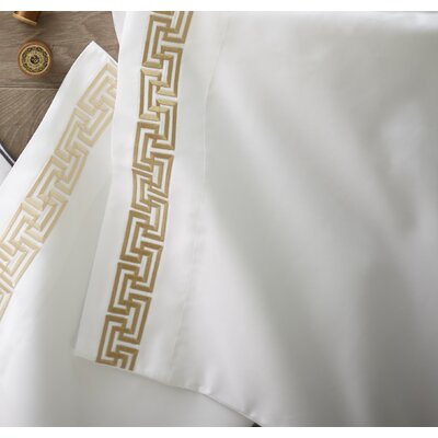 Maestro Pillowcase Color: Linen, Size: King