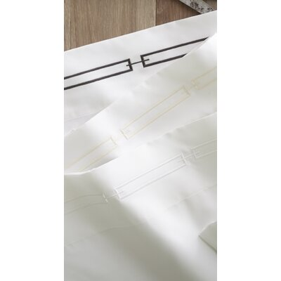 Stanza 420 Thread Count Egyptian-Quality Cotton Flat Sheet Color: Pearl, Size: Queen