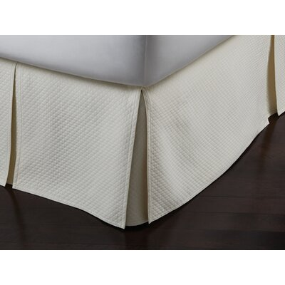 Oxford Paneled Bed Skirt Size: Full, Color: Ivory