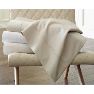 Lyric Fitted Sheet Size: King, Color: Linen