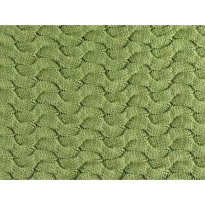 Majorca Squiggle Cable Cotton Bed Rest Pillow Color: GREEN