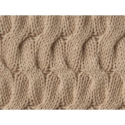 Majorca Squiggle Cable Cotton Throw Color: GOLD