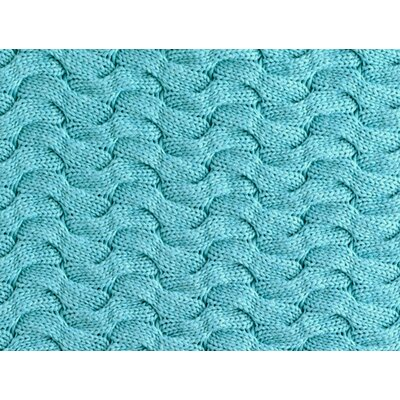 Majorca Squiggle Cable Cotton Bed Rest Pillow Color: AQUA