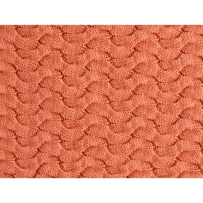 Majorca Squiggle Cable Cotton Bed Rest Pillow Color: CORAL